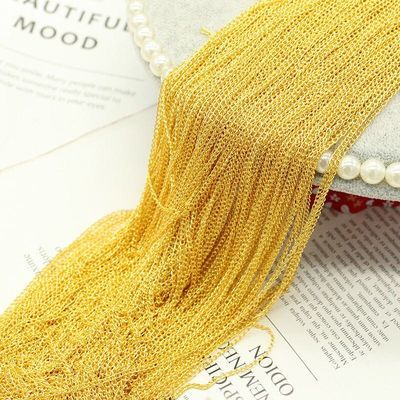 【一捆100米】diy古风发饰发簪材料配件2*3mm加密链延长链条尾链