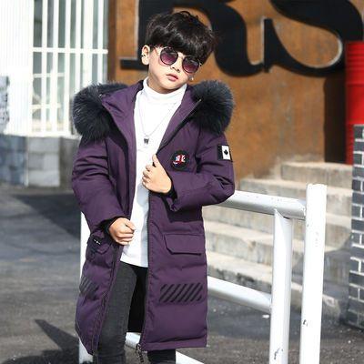 儿童羽绒服加厚款男童中长款冬装外套中大童童装新款反季大毛领潮