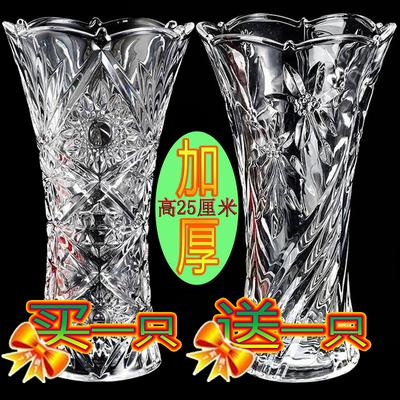 北欧式富贵竹花瓶玻璃瓶子透明水培植物水养插花干花大号客厅摆件