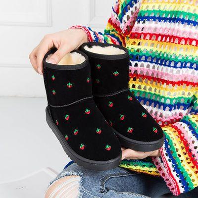 新款雪地靴女低筒短靴秋冬防滑加厚保暖鞋加绒棉鞋子爆款