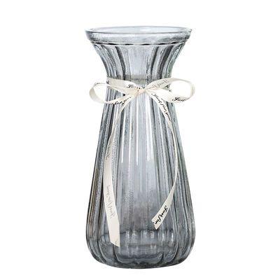 欧式创意透明彩色玻璃花瓶水养植物绿萝鲜花干花插花瓶客厅摆件