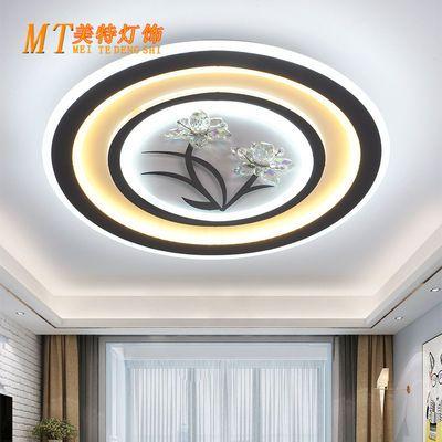 2019新款led客厅灯吸顶灯卧室灯长方形水晶灯圆形书房灯餐厅灯具