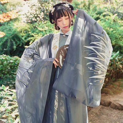 十三余小豆蔻儿[凤羽]重工刺绣披风绣花汉服外套秋季女装