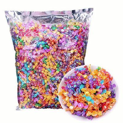 热卖水果切片迷你水果糖 多彩千纸鹤糖 4S酒店前台招待顾客用糖