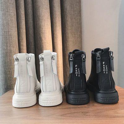 马丁靴女英伦风2020新款百搭秋冬网红机车靴短靴后拉链加绒雪地靴