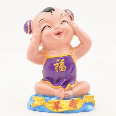 彩塑 中国 娃泥塑泥人手工工艺品摆件陶瓷娃娃