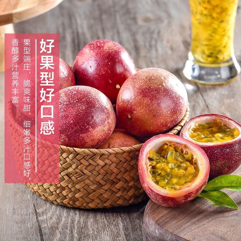 广西现摘百香果5斤包邮当季紫色百香果西番莲鸡蛋果水果原浆精装_3