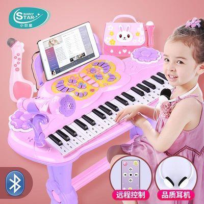 儿童电子琴女孩初学者入门小钢琴带话筒宝宝可弹奏音乐玩具3-6岁1