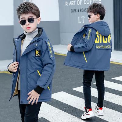 男童棉衣加绒外套春秋款加厚保暖韩版风衣2020新款中大童冬季棉袄