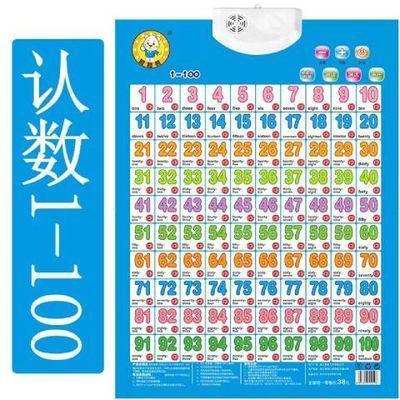 婴幼儿童早教有声挂图认数字1到100卡片学数学拼音识字认动物挂图