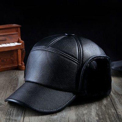 老人帽子男冬季老年人棉帽老头中老年人中年爸爸爷爷保暖护耳皮帽