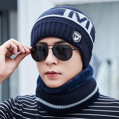 帽子男冬天保暖针织帽加绒套头毛线帽加厚韩版护耳青年冬季潮棉帽主图