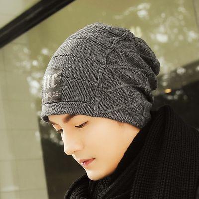 冬季韩版帽子男潮加厚保暖冬天男士棉毛线针织青年男生百搭套头帽