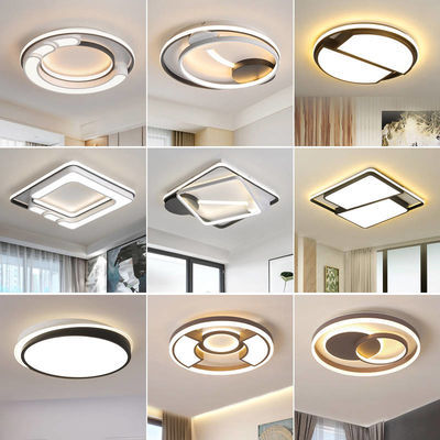 新款家用LED遥控卧室吸顶灯主卧超薄儿童房间正方形圆形节能灯具
