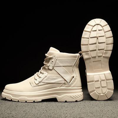 冬季加棉马丁靴男士加绒保暖高帮雪地棉鞋子加厚军靴特种兵作战靴