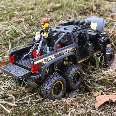 皮卡车玩具越野吉普车汽车模型仿真回力车合金车模儿童玩具车男孩