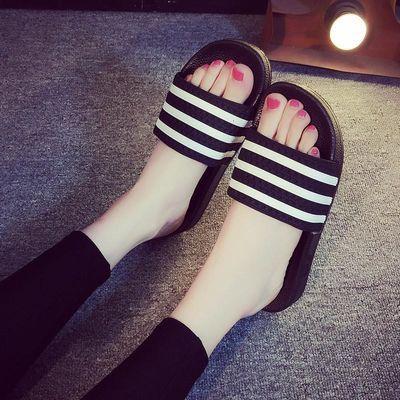 爆款一字拖鞋男拖鞋夏季室内外防滑学生韩版凉拖鞋女三杠情侣拖鞋
