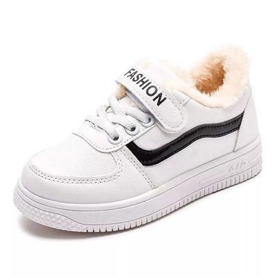 儿童棉鞋男童2019新款冬季大棉加绒加厚女童二棉鞋运动鞋板鞋子【3月17日发完】