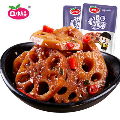 口水娃莲藕片泡面下饭菜香辣凉拌菜即食咸菜藕块独立小包零食小吃