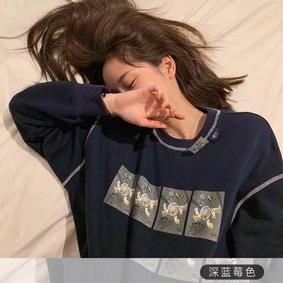张大奕玩具总动员合作款卫衣女宽松韩版慵懒风长袖上衣bf卡通套头