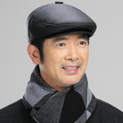 中老年帽子男秋冬新款老人前进帽爸爸爷爷老头护脖鸭舌帽冬季保暖