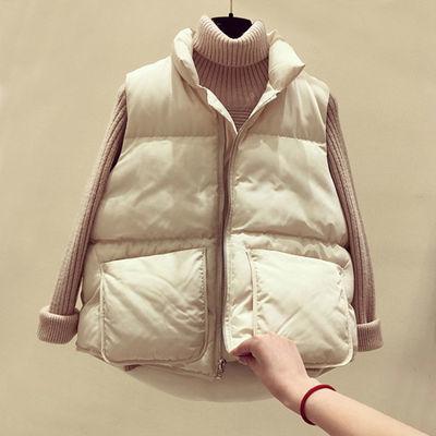 加肥加大码马甲女胖mm200斤秋冬韩版宽松中长款羽绒棉服背心外套