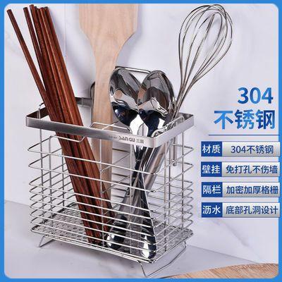 不锈钢筷子笼厨房挂式沥水接水盘筷子筒家用通风餐具笼架筷子收纳