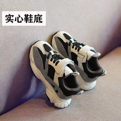 儿童运动鞋2019冬季加绒女童老爹鞋网面透气男童休闲跑步鞋熊猫鞋主图