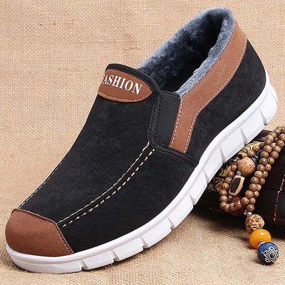 老头鞋二棉鞋男冬老北京棉鞋老年男式鞋子男士老人冬季防滑布鞋