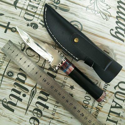 防身求生锋利小刀户外开山刃利口短直刀高硬度随身开锋一体水果刀
