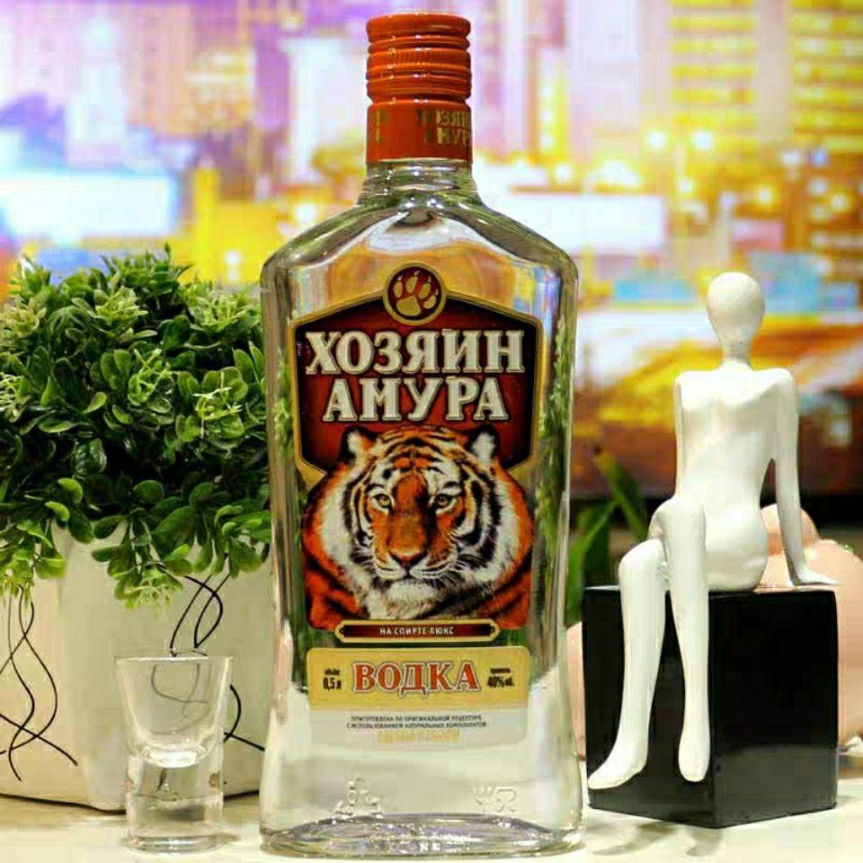 俄罗斯原装进口阿穆尔王者虎头牌伏特加白酒烈酒夜店配置500毫升