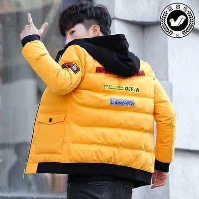 富贵鸟冬季棉衣男装短款修身连帽棉袄羽绒棉服青少年学生加厚外套