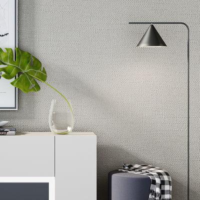 灰色亚麻日式电视背景墙纸现代简约卧室客厅餐厅北欧风格壁纸ins