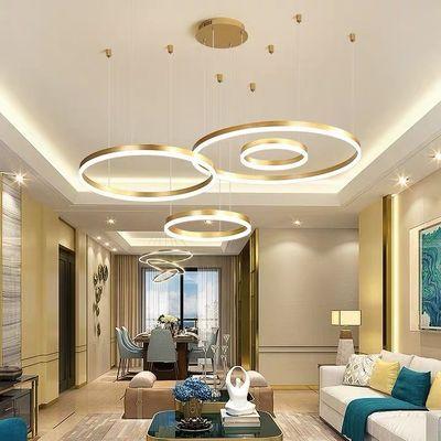 新款客厅灯现代简约led大厅吊灯个性饭厅餐厅灯北欧复式楼灯具