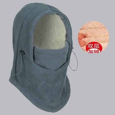 冬季户外骑行防风飞虎帽抓绒头套CS帽子面罩加厚保暖滑雪帽口罩
