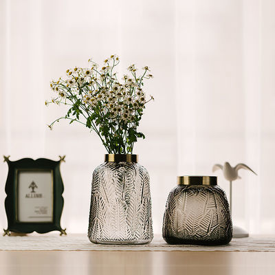 北欧现代简约玻璃花瓶透明花器客厅干花插花瓶餐桌花艺装饰品摆件