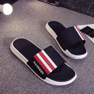 夏季一字拖男士防滑凉拖鞋外穿个性潮流夹脚室外沙滩鞋男凉鞋韩版