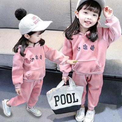 女童秋冬套装儿童冬装女新款三岁宝宝冬装加绒小童冬季可爱三件套