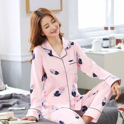 睡衣女秋冬季长袖睡衣女大码宽松学生外穿莫代尔月子服套装家居服