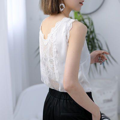 白色蕾丝吊带背心女外穿新款V领内搭性感百搭美背打底衫宽松上衣