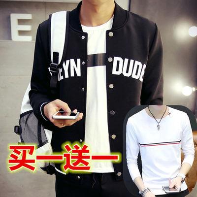 秋款外套男韩版青少年夹克初中学生干活外穿褂子帅气便宜褂子帅气主图