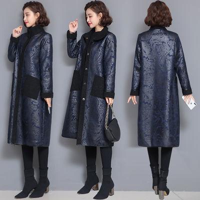 加肥加大码女装秋冬装新款仿皮毛一体绒大衣中长款外套女大码女装