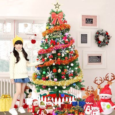 圣诞树1.5米家用发光套餐装圣诞节装饰0.6米迷你圣诞树仿真树摆件