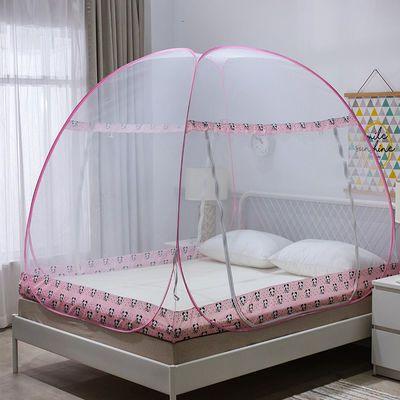 蒙古包蚊帐家用1.8m双人床全底防摔儿童1米双开门免安装纹帐2M1.5
