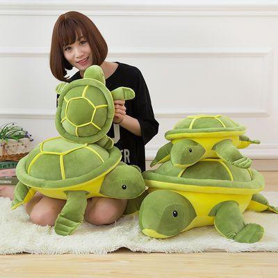 可爱羽绒棉乌龟公仔毛绒玩具柔软抱枕靠枕靠垫 小龟布娃娃礼物女主图