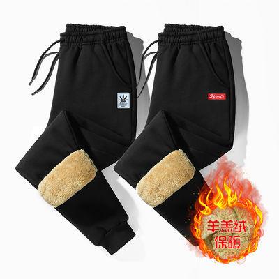 羊羔绒加厚冬季裤子男休闲运动裤男宽松男士束脚保暖卫裤长裤潮主图
