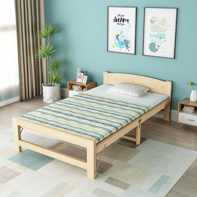 折叠床简易床成人实木午睡床经济型单人实木床双人床儿童床松木床