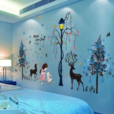 3D立体墙贴画贴纸卧室宿舍背景墙房间装饰品ins网红壁纸墙纸自粘