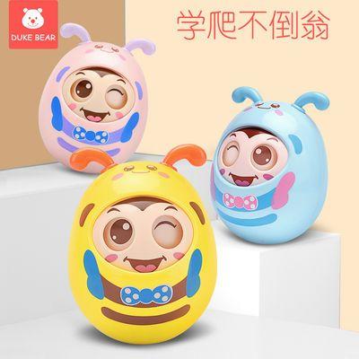 不倒翁玩具大号婴儿0-3-6-12个月宝宝益智早教男女孩软耳牙胶玩具