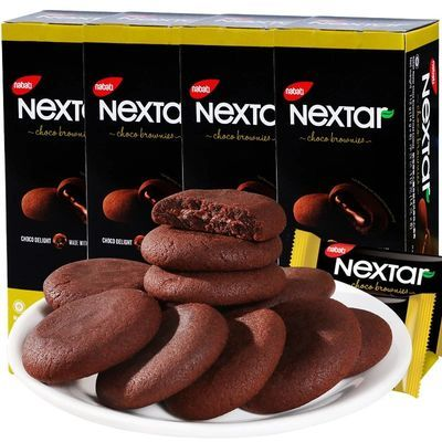 印尼进口【丽芝士Nextar_注心曲奇饼干】布朗尼巧克力味零食小吃
